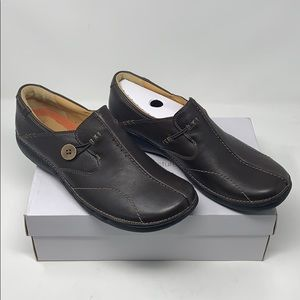 Clarks Unstructured Un Loop Slip-On Shoes Size 11